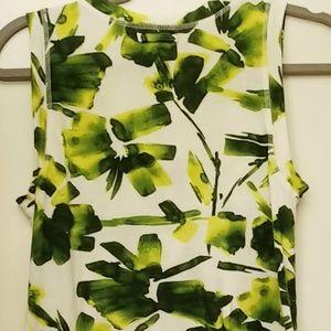Simply Vera Vera Wang Tops - Vera Wang Tanktop white and green patterns, Small
